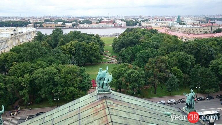 Top of St Isaccs Cathedral - St Peterburg